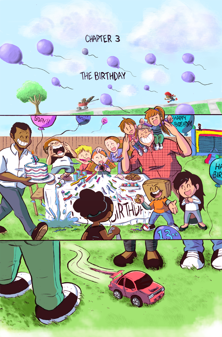 Nia's 13th birthday party is being held in her backyard and is soon crashed by Tyler, Tanya, and Rocky…who were invited.